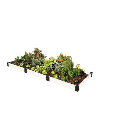 Raised Garden White 4 ft. x 12 ft. 1 Level