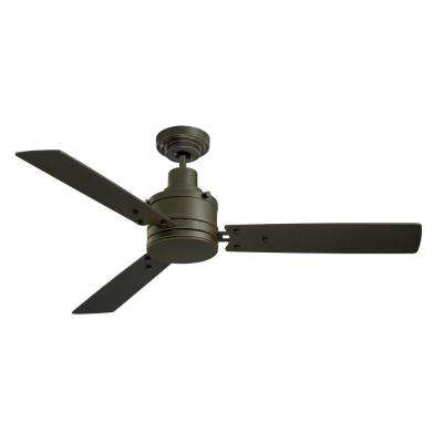 Highpointe 54 in. Golden Espresso Ceiling Fan