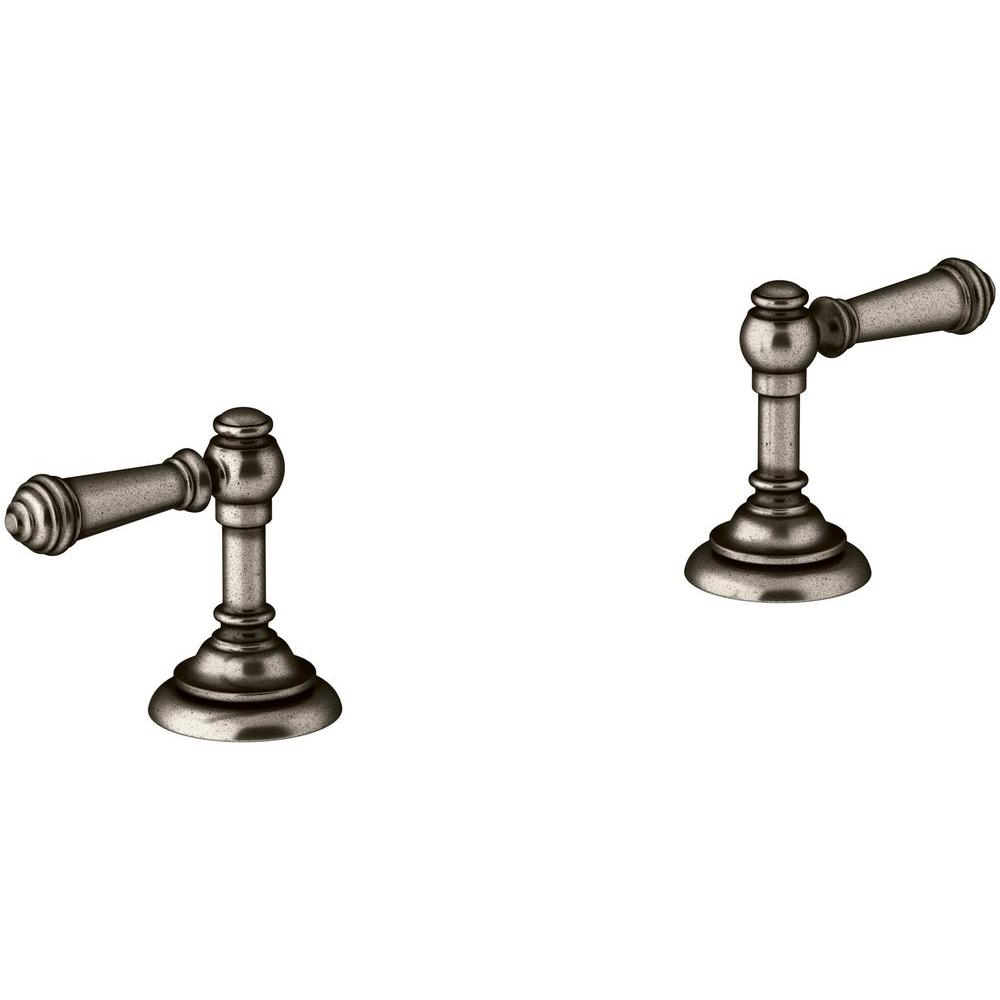 KOHLER Artifacts Bathroom Sink Lever Handles In Vintage NickelK - Kohler bathroom sink faucet replacement parts