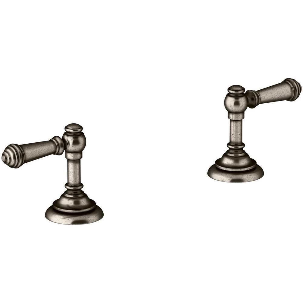 Kohler Artifacts Bathroom Sink Lever Handles in Vintage Nickel-K ...