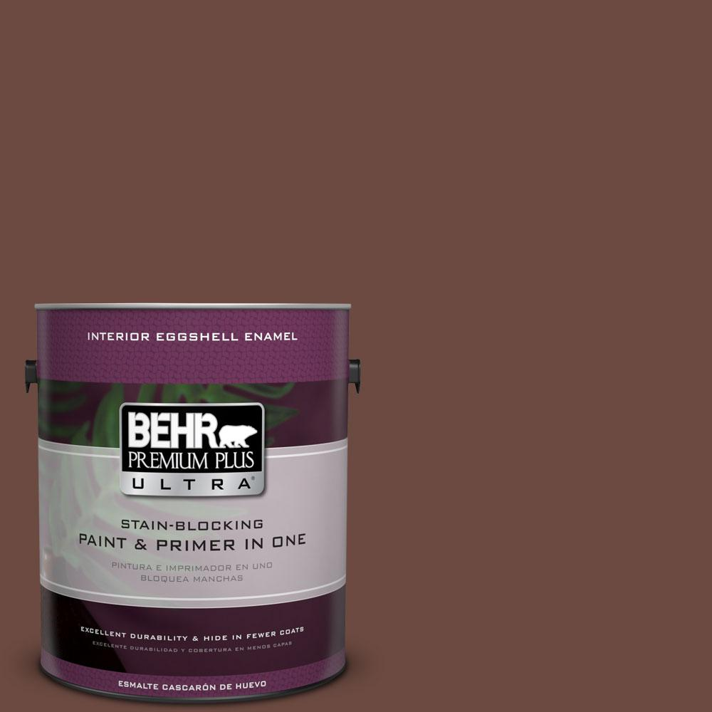 BEHR Premium Plus Ultra 1-gal. #BNC-32 Maximum Mocha Eggshell Enamel Interior Paint