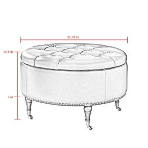 Tremendous Inspired Home Renata White Gold Pu Leather Tufted Nailhead Dailytribune Chair Design For Home Dailytribuneorg