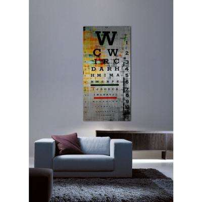 "45 in. H x 22.5 in. W ""Eye Chart"" by Parvez Taj Printed Brushed Aluminum Wall Art"