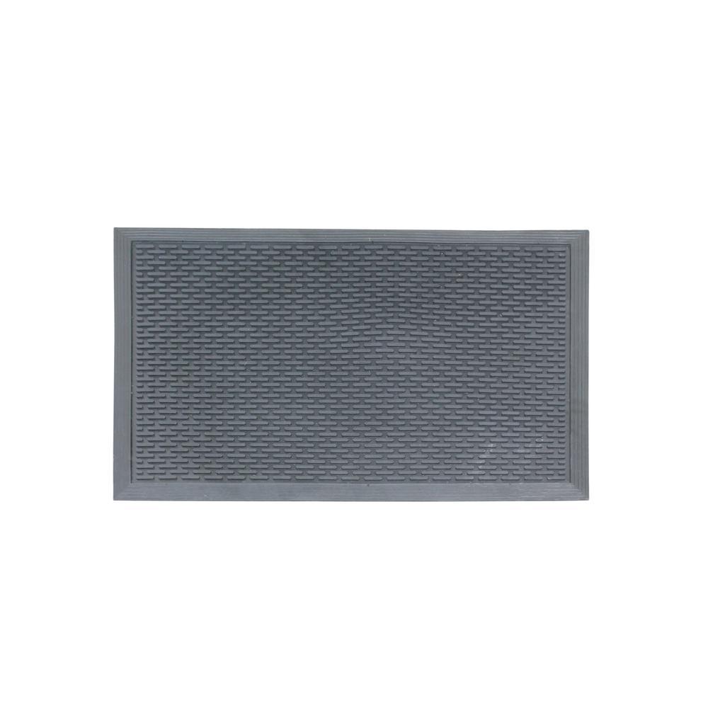 A1HC Capsule Studs 24 inch x 36 inch Rubber Clean Step Scraper Floor Mat by