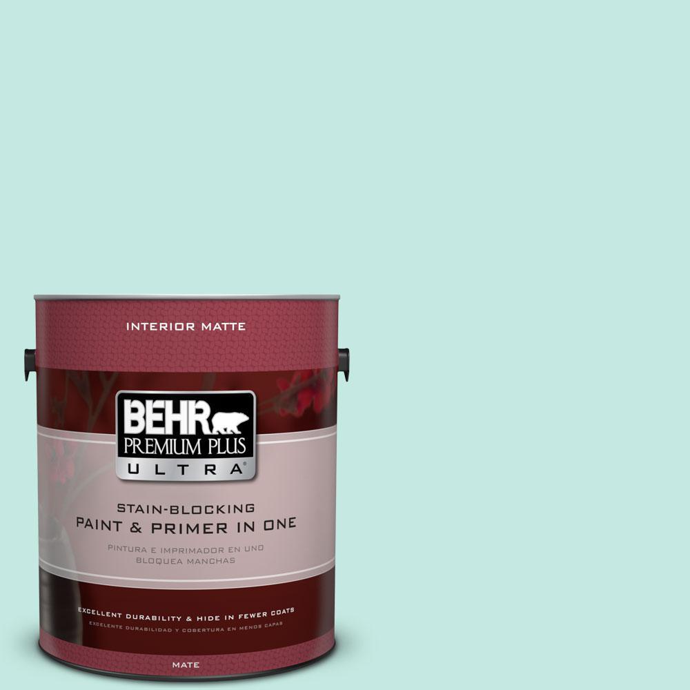 BEHR Premium Plus Ultra 1 gal. #P440-2 Clear Aqua Matte Interior Paint