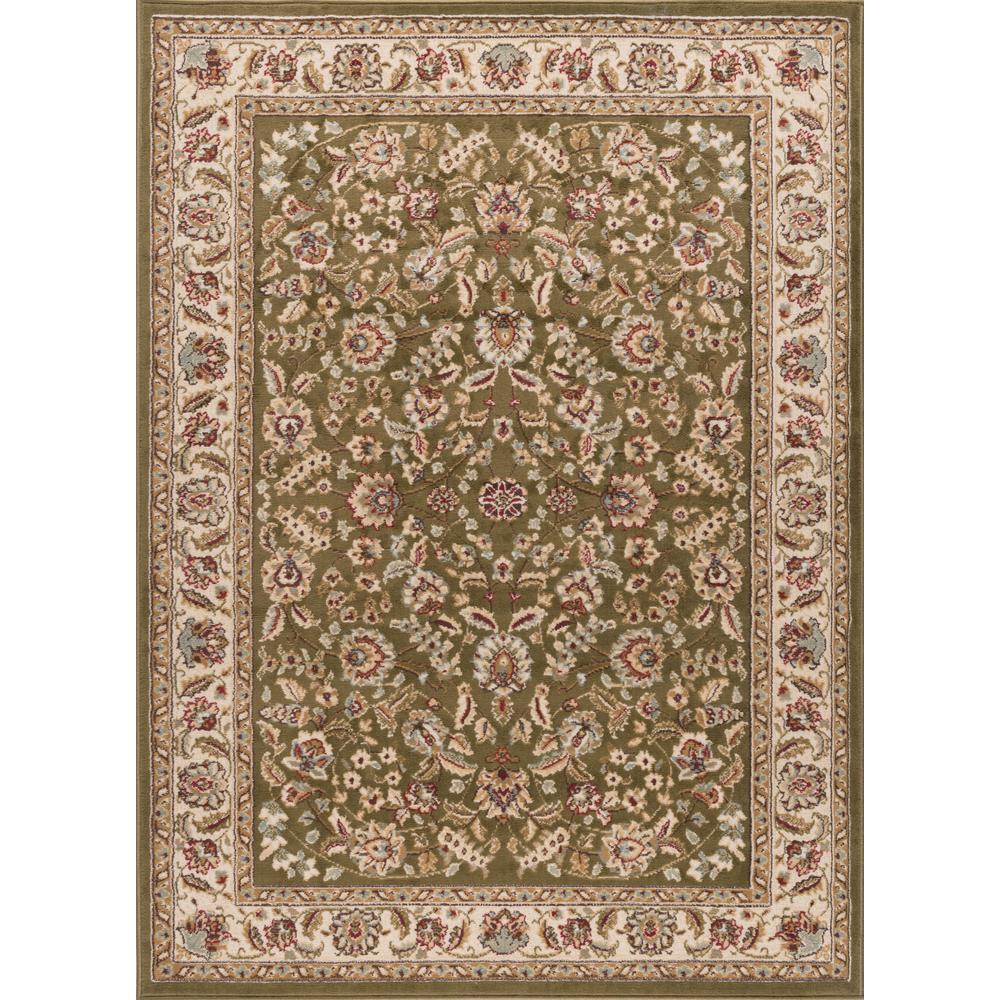 tayse rugs laguna green 5 ft x 7 ft indoor area rug 5075 green 5x7 the home depot. Black Bedroom Furniture Sets. Home Design Ideas