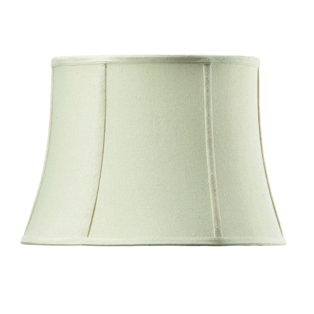 Home Decorators Collection Tapered Small 14 in. Diameter Ivory Linen Drum Shades