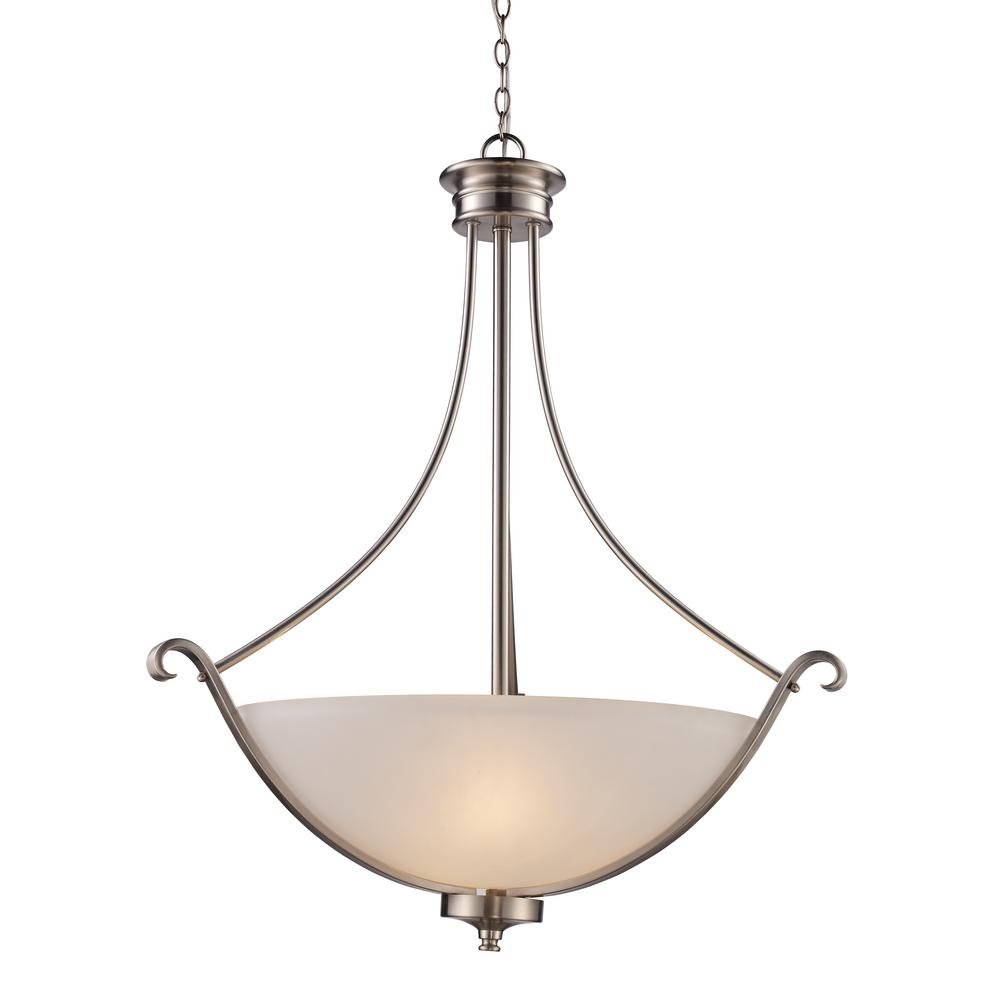Ballards Lighting: Ballard 3-Light Brushed Nickel Pendant-70664 BN