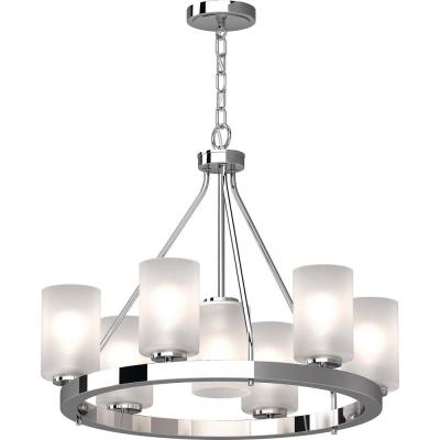 Warehouse Of Tiffany Eupifinia 12 Light Chrome Indoor Chandelier