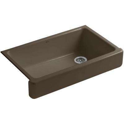 Whitehaven Farmhouse Apron-Front Cast Iron 36 in. Single Basin Kitchen Sink in Suede