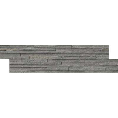 Charcoal Pencil Ledger Panel 6 in. x 24 in. Slate Wall Tile (10 cases / 80 sq. ft. / pallet)