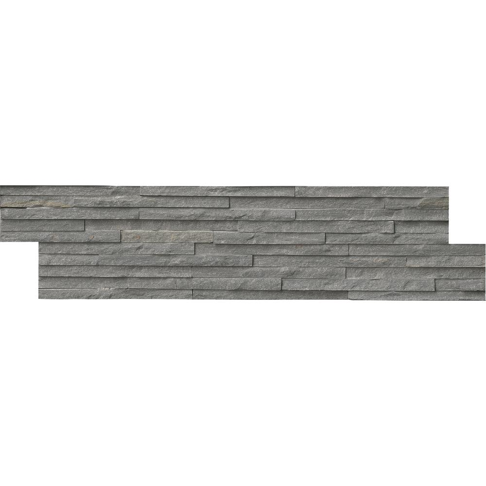 MSI Charcoal Pencil Ledger Panel 6 in. x 24 in. Slate Wall Tile ...