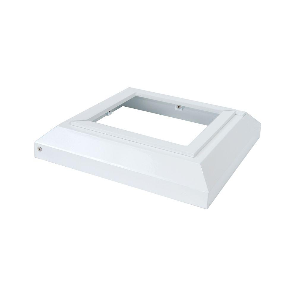 Fortress Accents 5 in. x 5 in. White Aluminum Deck Post Base Cover