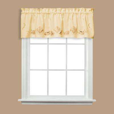 Seabreeze 13 in. L Polyester Valance in Sand
