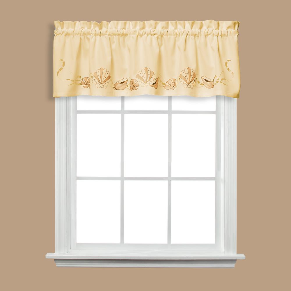 Saturday Knight Seabreeze 13 in. L Polyester Valance in Sand