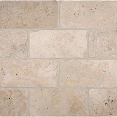 Bologna Chiaro 3 in. x 6 in. Textured Travertine Floor and Wall Tile (1 sq. ft. / case)