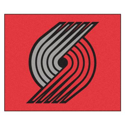 NBA Portland Trail Blazers Red 6 ft. x 5 ft. Indoor/Outdoor Rectangle Tailgater Rug