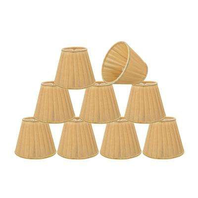 5 in. x 4-1/4 in. Gold Pleated Empire Lamp Shade (9-Pack)