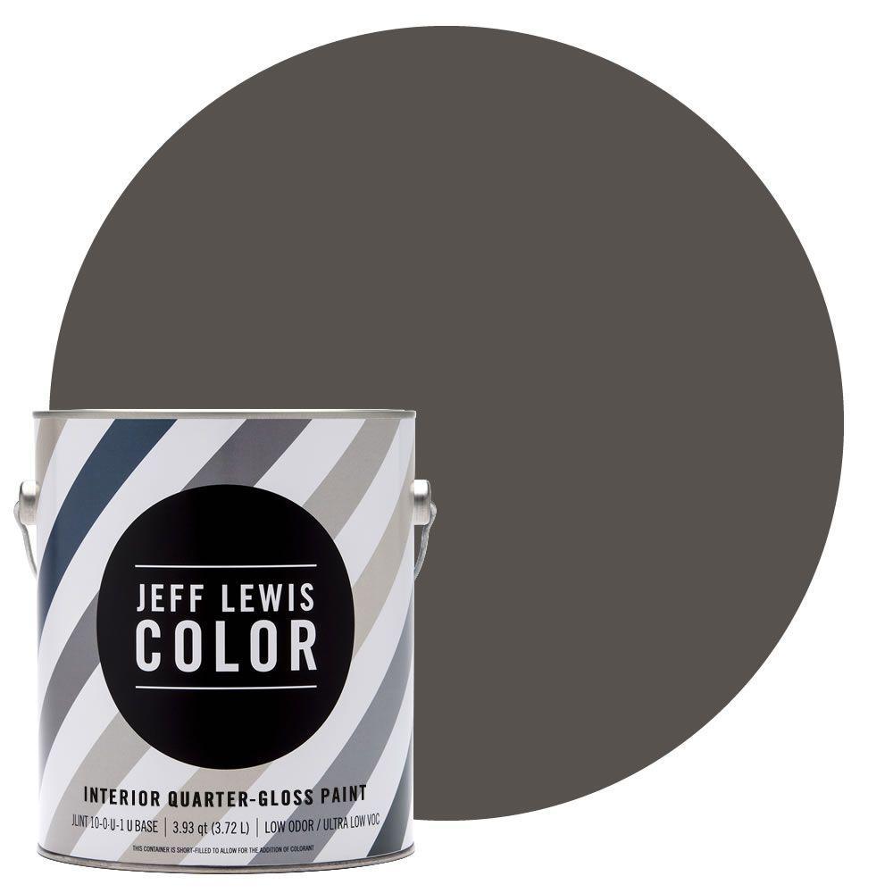 Jeff Lewis Color 1-gal. #JLC112 Beaver Quarter-Gloss Ultra-Low VOC Interior Paint