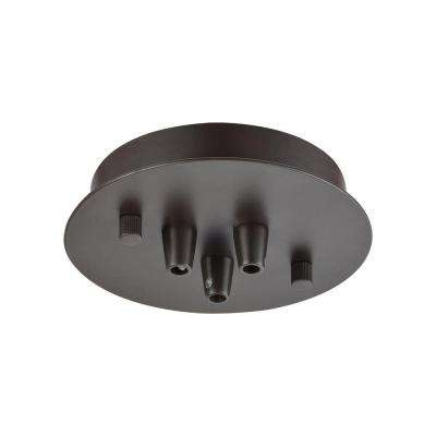 Illuminaire Accessories 3-Light Oil Rubbed Bronze Small Round Canopy