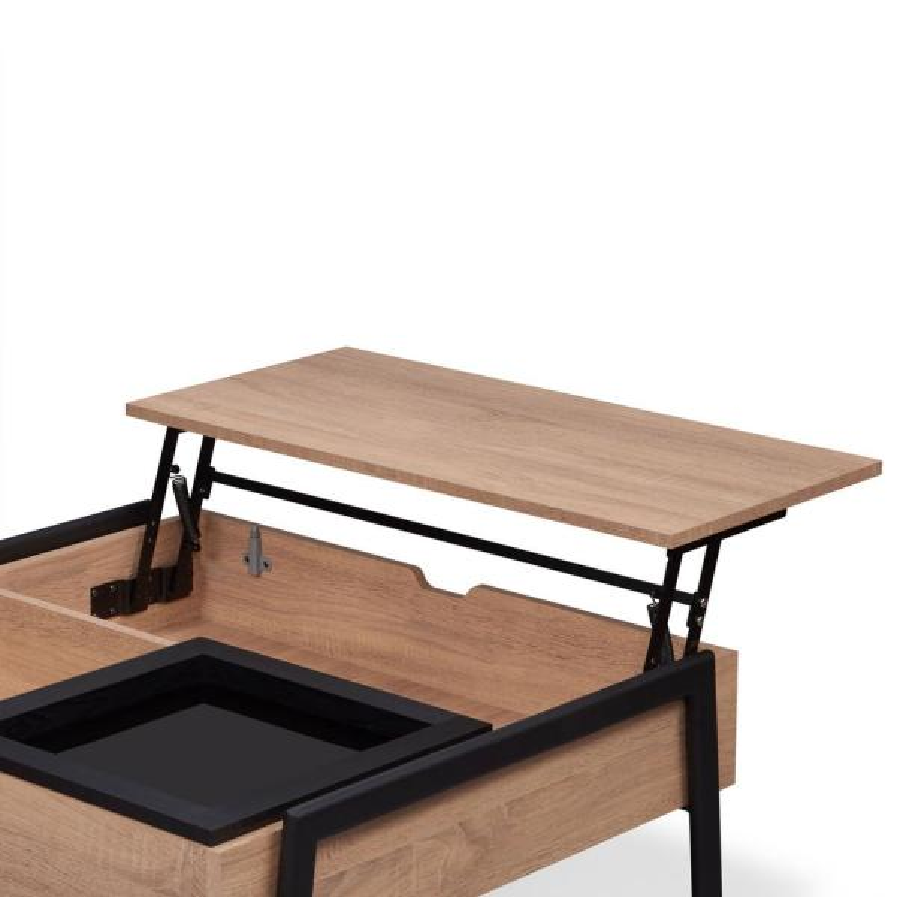 Venetian Worldwide Fakhanu Rustic And Black Coffee Table Va 83885