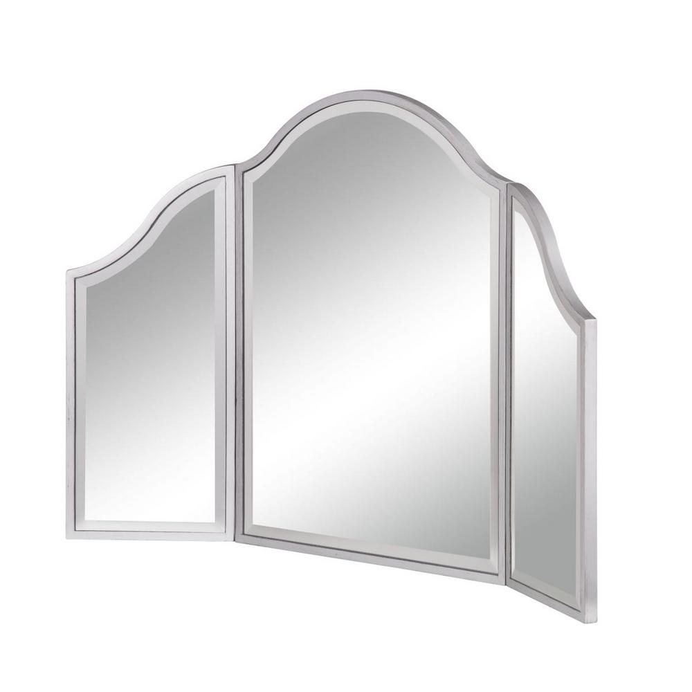 Rhodes Dressing Mirror 37 in. x 24 in. with Silver Paint MDF Frame ...