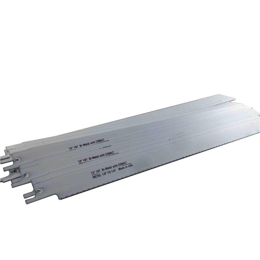 12 in. x 3/4 in. x 0.035 in. 18 Teeth per in. Metal Cutting Bi-Metal Reciprocating Saw Blade (10-Pack)