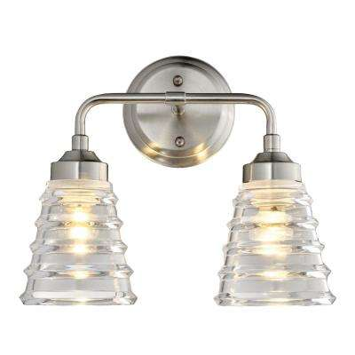 Amherst 2-Light Brushed Nickel Bath Light
