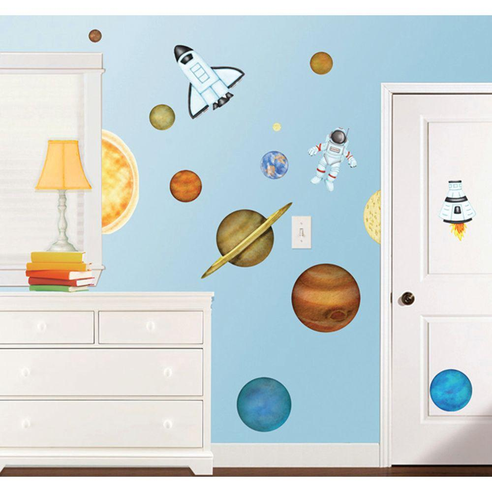null 14 in. x 11 in. In Outer Space Super Jumbo Wall Decal
