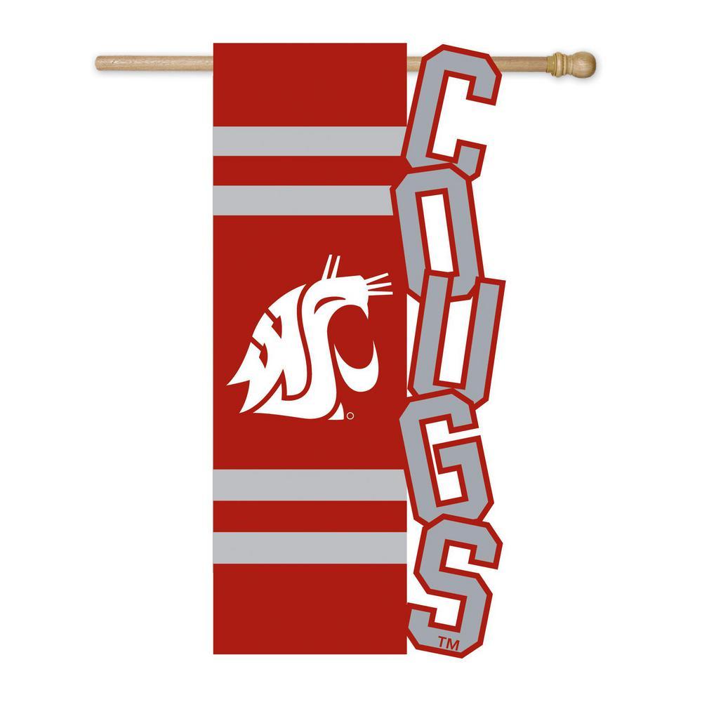 2.1 ft. x 3.6 ft. Washington State University Applique House Flag
