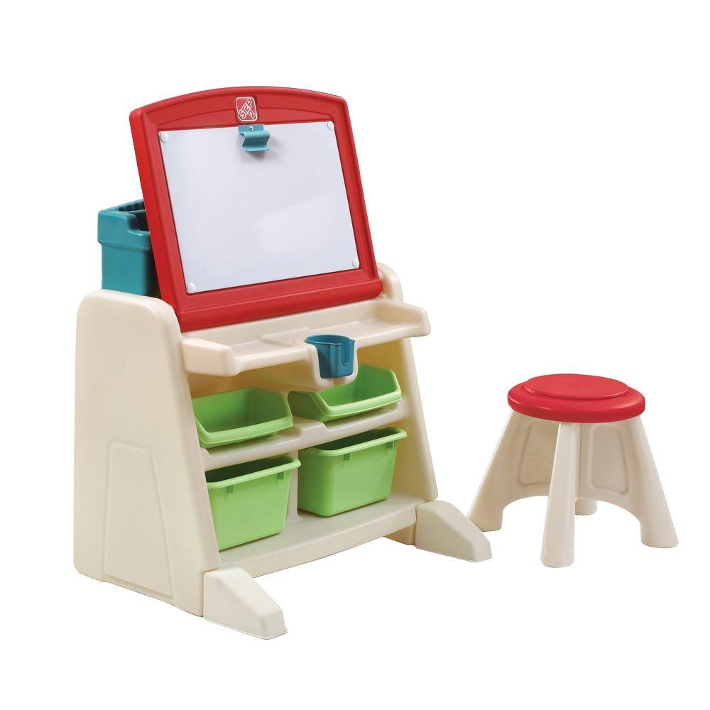 Attractive Step2 Flip And Doodle Easel Desk With Stool Photo