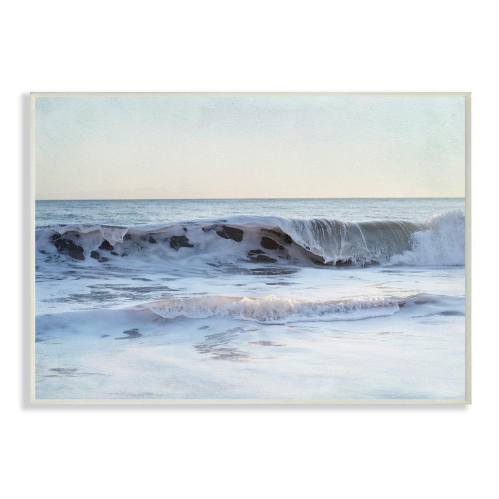 10 In X 15 In Coastal Evening Beach Cresting Wave Photograph By Elizabeth Erquhart Wood Wall Art