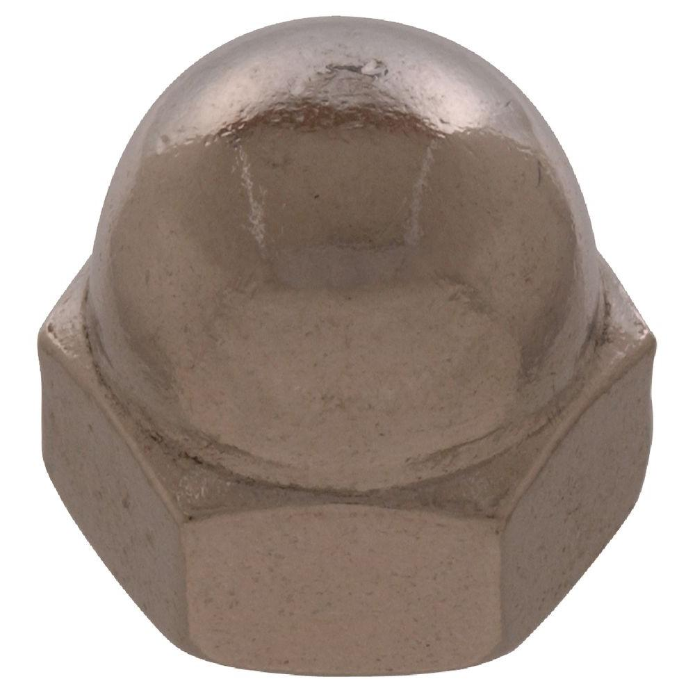 The Hillman Group #6 - 32 in. Stainless Steel Acorn Nut (12-Pack)