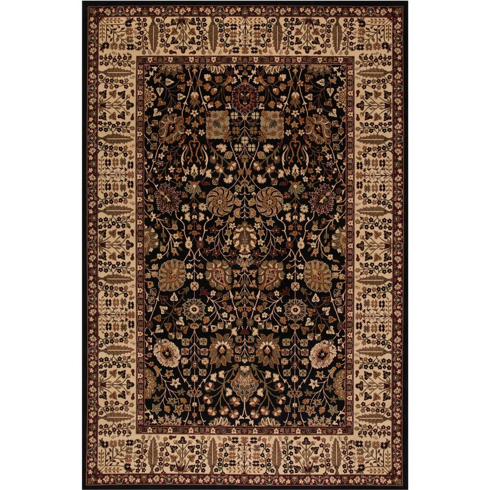 Persian Classics Vase Black 6 ft. 7 in. x 9 ft. 6 in. Area Rug