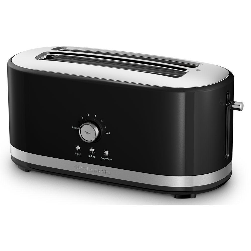 KitchenAid 4 Slice yx Black Toaster KMT4116OB The Home Depot
