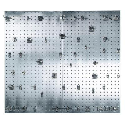 3/8 in. (2) 304 Stainless Steel Square Hole Pegboard Organizer Kit