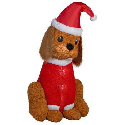 35.83 in. W x 40.95 in D x 72.05 in. H Lighted Inflatable Cocker Spaniel