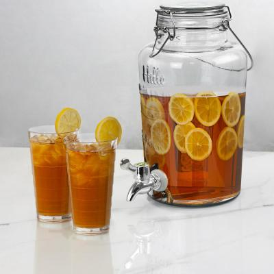 Bayfront Summer 2.6 Qt. Glass Drink Dispenser for Cold Drinks