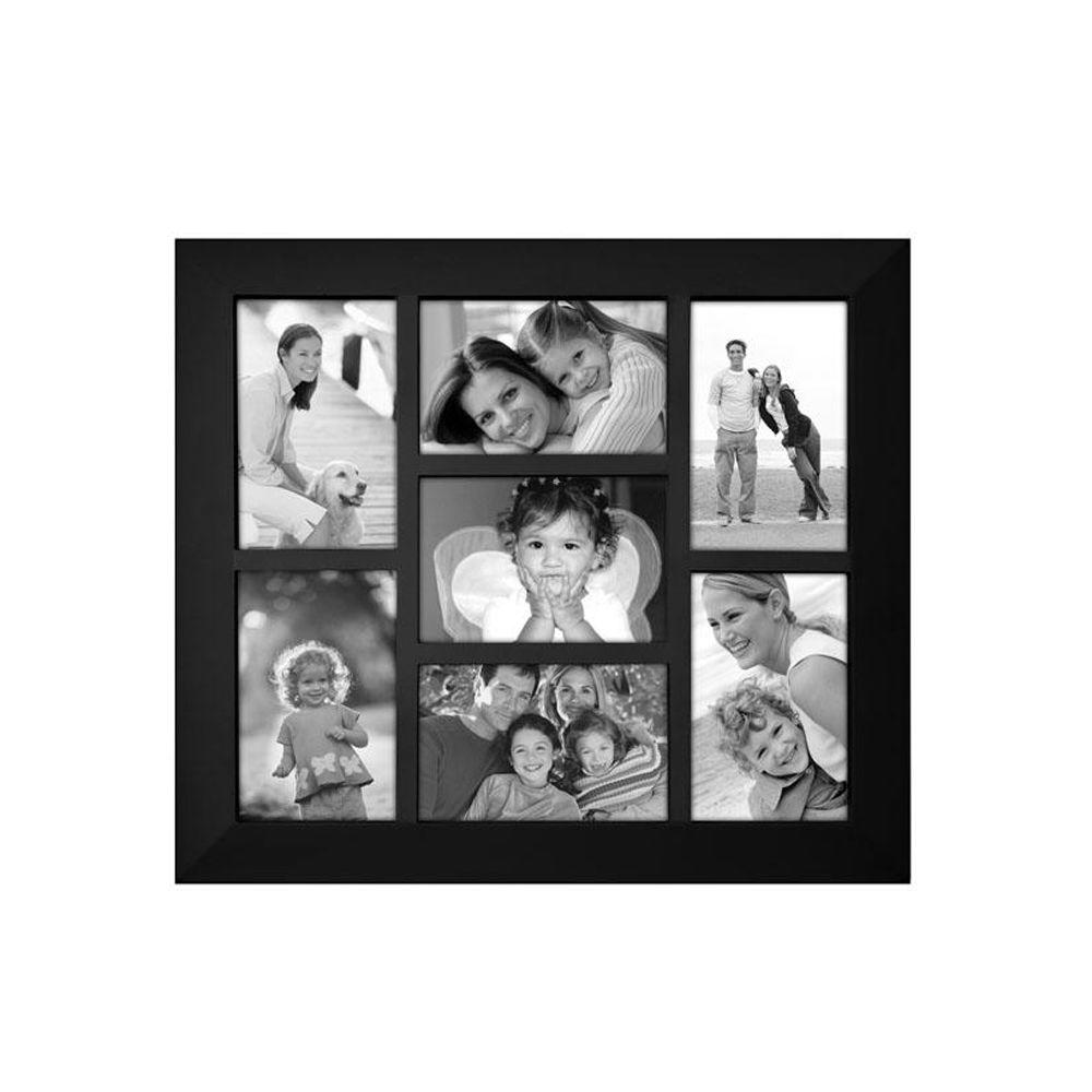 Home Decorators Collection Berkeley 7-Opening 4 in. x 6 in. Black Collage Picture Frame