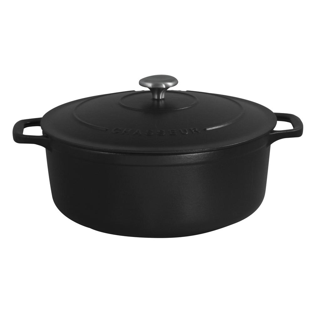 6-3/4 Qt. Cast Iron Dutch Oven in Black