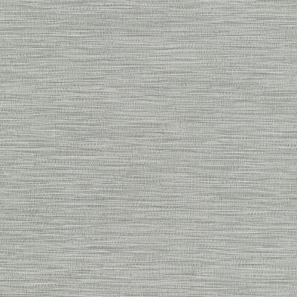 60.8 sq. ft. San Paulo Grey Horizontal Weave Wallpaper
