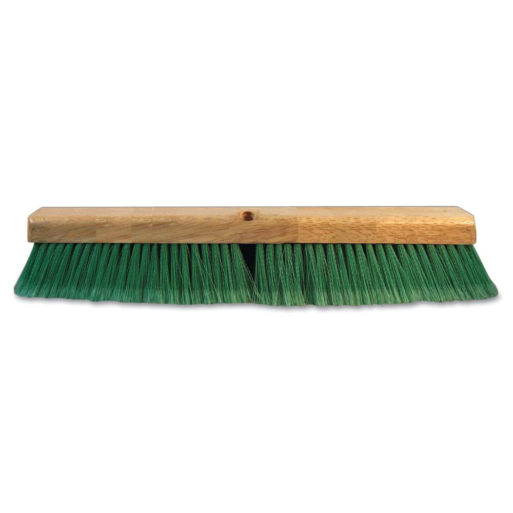 ProLine 24 in. Green Flagged Recycled Pet Plastic Push Broom Head