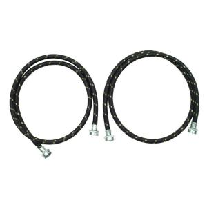 Whirlpool 5 ft. Industrial Grade Nylon Braid Fill Hoses (2-Pack) by Whirlpool