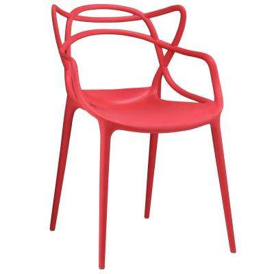 Entangled Red Dining Arm Chair