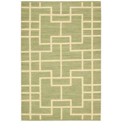 Maze Lemon Grass 5 ft. x 7 ft. Area Rug