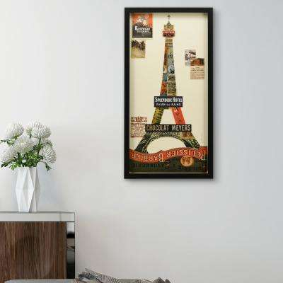 Eiffel Tower Dimensional Collage Framed Graphic Art