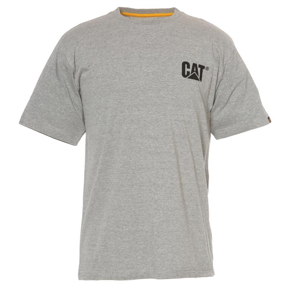 Men's 2X-Large Heather Grey Cotton Short Sleeved T-Shirt