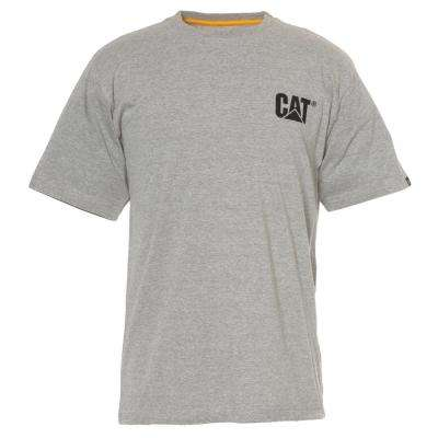 Men's 3X-Large Heather Grey Cotton Short Sleeved T-Shirt