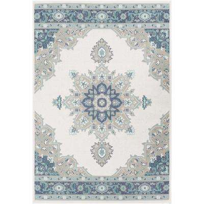 Felix White 5 ft. 3 in. x 7 ft. 6 in. Solid Indoor/Outdoor Area Rug