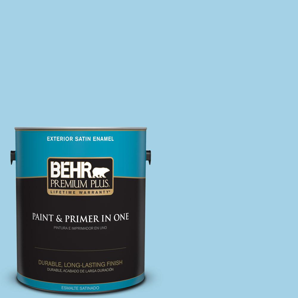 BEHR Premium Plus 1-gal. #540C-3 Sea Rover Satin Enamel Exterior Paint